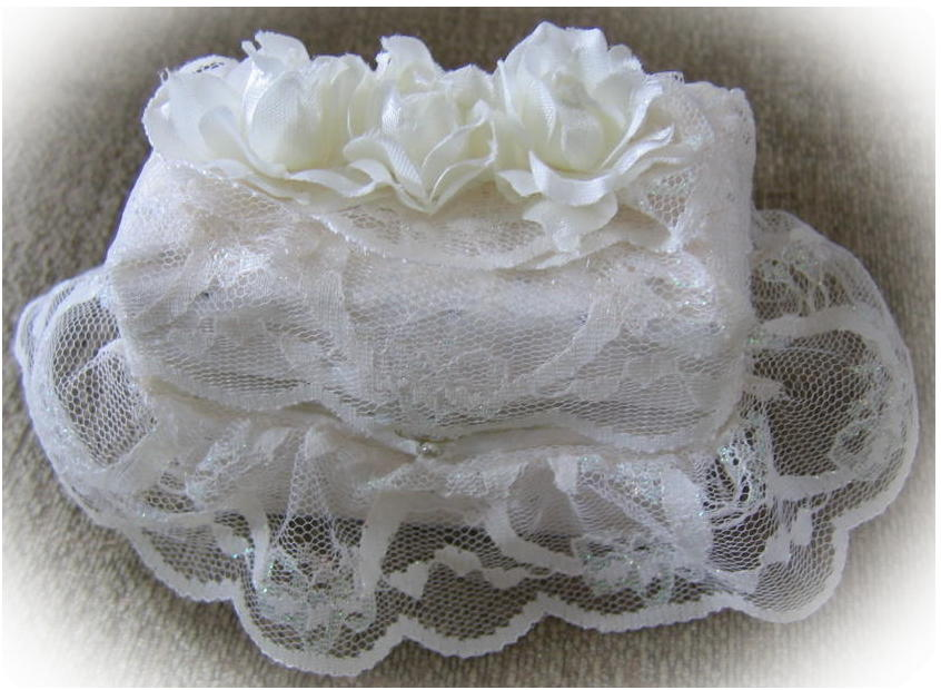 lace skirt ring box