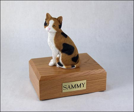 Cat figurine and box cremation urn
