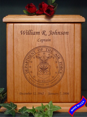 heratage air force wood memorial urn