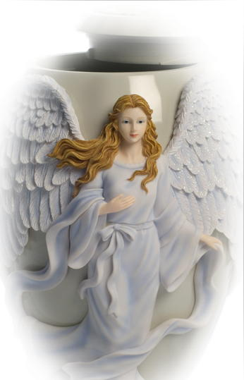 Ceramic Angel cremation Urns and vessels