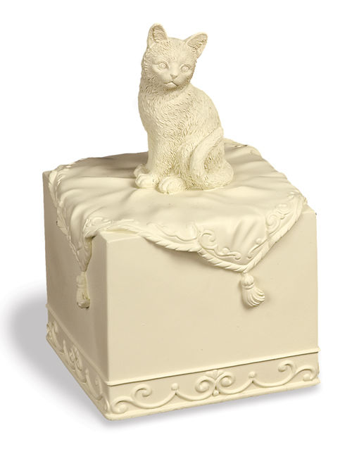 Faithful Friend Cat figurine Urn