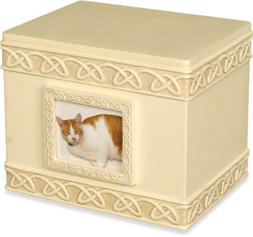 celtic knot cat urn
