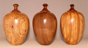 Maple,Walnut and Elm wood cremation urns