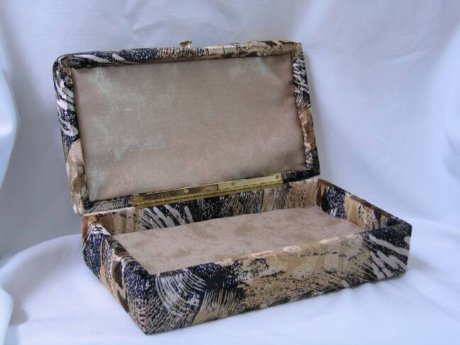 inside of animal print box