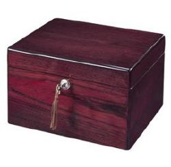 Cremation urn made from Rosewood Hall on select hardwoods and veneers.