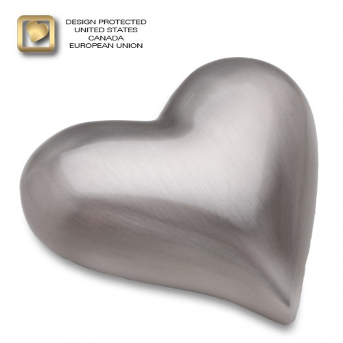 Pewter heart keepsake urn