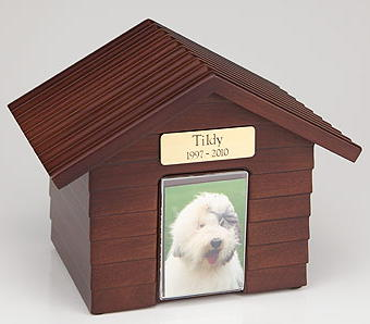 Walnut Dog House Urn