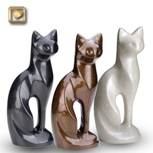 All three colors Graceful Cat Urn