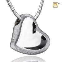 Sterling Silver Leaning Heart