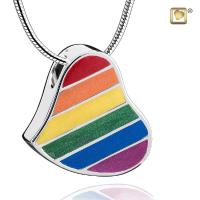 Sterling Silver Rainbow Cremation Pendant