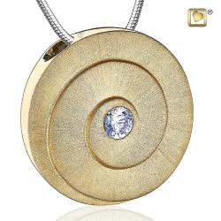 Eternity Rhodium Plated Two Tone with Clear Crystal Cremation Pendant