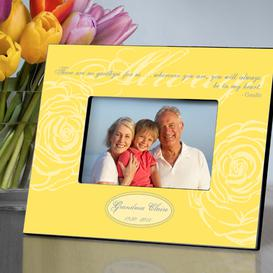 Personalized Yellow Always Memorial Picture Frame
