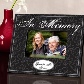 In Memory Black photo frame