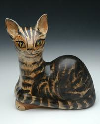 porcelain cat sculpture urn