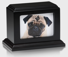 Wood picture fram Mahogany pet urn