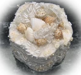 Hand Made Sea Shell Ring Box for a beach wedding