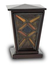 Amber Stained Glass Cremation Keepsake