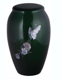 Butterfly Cremation Urn witth mother of pearl inlay