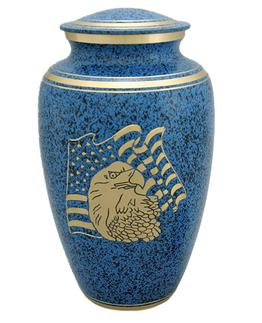 blue USA Flag urn