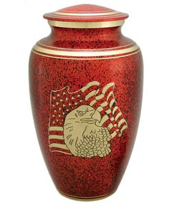 Red USA Flag urn