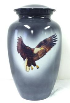 eagle in flight brass urn
