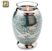 Flying home candle urn
