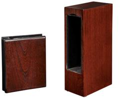 wood photo album with urn
