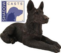 bronze German Shepard urn