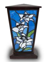 Stained glass cremation urn
