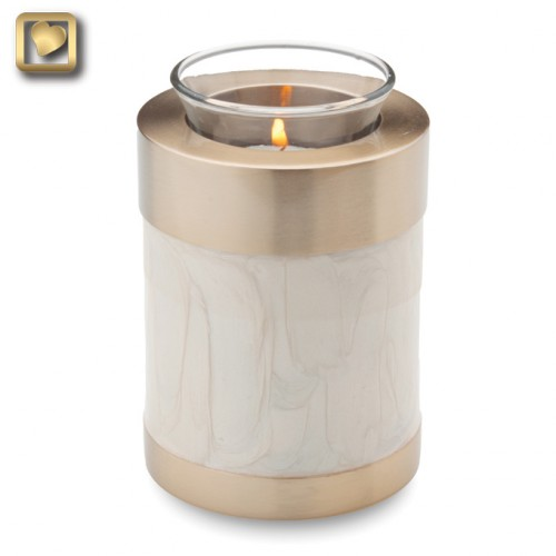 votive candle urn in white
