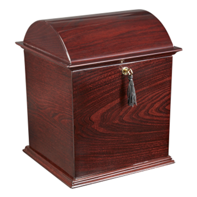 rosewood treasure chest urn