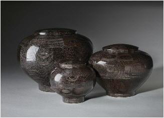 wood cremation urns dyed black